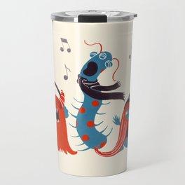 Three Monsters Singing Travel Mug