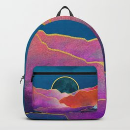 Rainbow mountains & gold Backpack