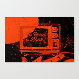 Go Read A Book (Blue) Canvas Print