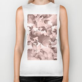 Watercolor Autumn Leaves 8 Biker Tank