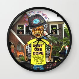 Uncle Freeloaders Life Story Remixed Wall Clock