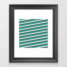 diagonal striped shirt Framed Art Print