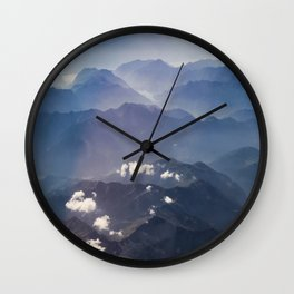 Alps view Wall Clock