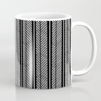 herringbone Mugs featuring Herringbone Stripe by Project M