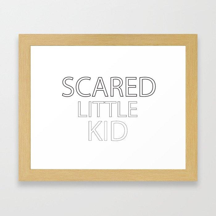 Scared Little Kid Framed Art Print