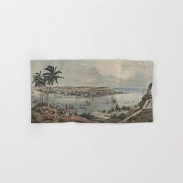 Vintage Pictorial Map of Havana Cuba (1851) Hand & Bath Towel