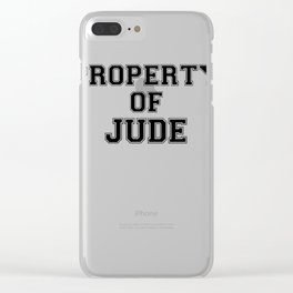 Property of JUDE Clear iPhone Case