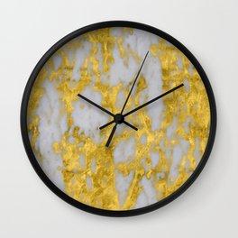 Luxury 24-Karat Gold Marble on Velvet Cream Wall Clock