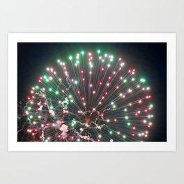 Marina Fireworks 2018 view 5 Art Print