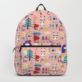 Tortoise and the Hare is one of Aesop Fables pink Backpack