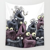 muppet Wall Tapestries featuring Yip Yip (white background) by Jason Tirendi