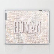 Human Typography Pattern on Weaved Textured Minimal Funny Laptop & iPad Skin