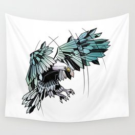 Geometric eagle Wall Tapestry