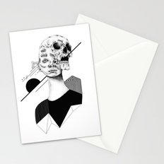 Skull and Woman 01 Stationery Cards