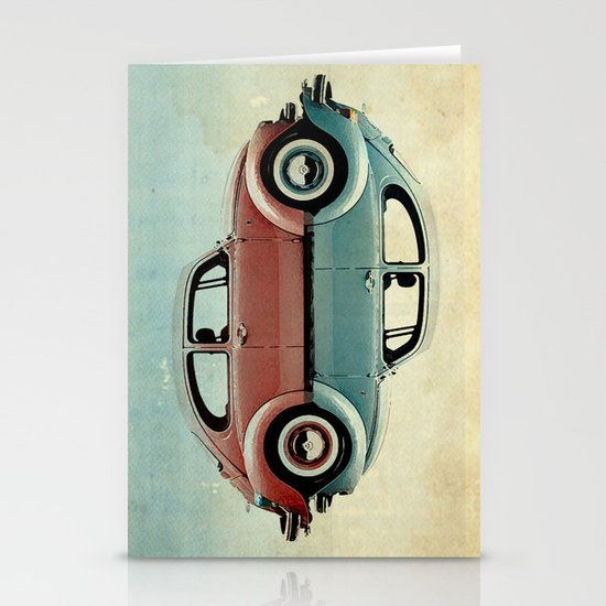 ying and yang Bugs Stationery Cards