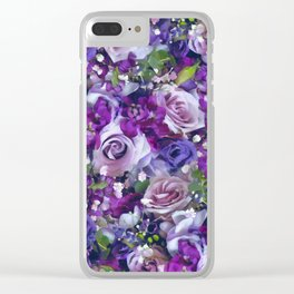 Romantic flowers III Clear iPhone Case