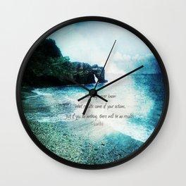 Inspirational Gandhi quote  Wall Clock