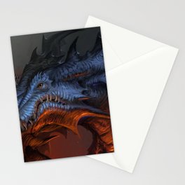 Magnificent Impressive Horned Fairytale Monster Reptile Face UHD  Stationery Cards
