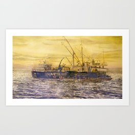 58° 73'N 151° 01'W Art Print
