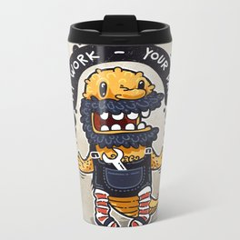 Unqualified Guest Worker is Looking for Job Metal Travel Mug