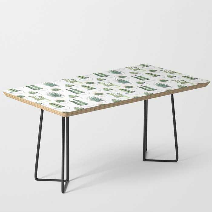 Watercolour Cacti & Succulents Coffee Table