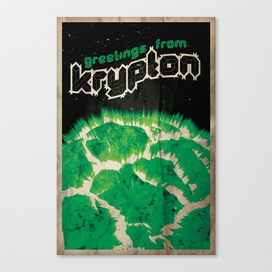 Greetings from Krypton | Defunct Planets Series No. 2 Canvas Print