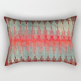 Sivas Antique Turkish Kilim Print Rectangular Pillow