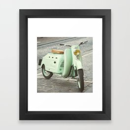 Mint Moto Framed Art Print