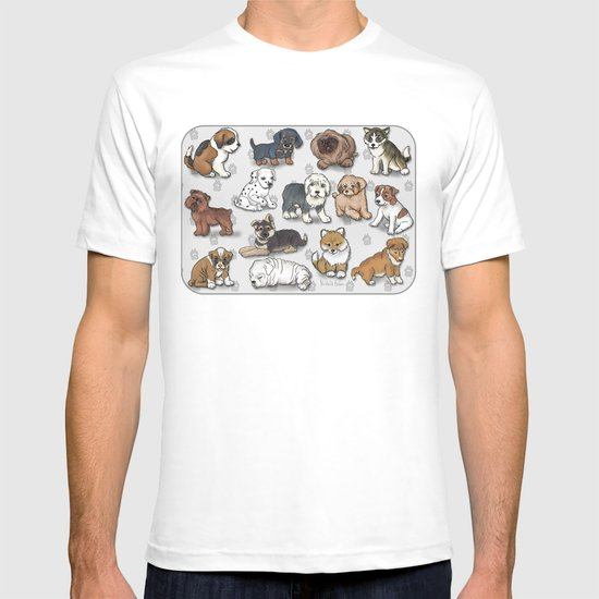 Puppies, more than a dozen.  T-shirt
