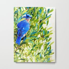Mr. Big Blue Metal Print