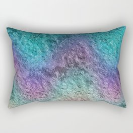 Textured Ombre Aqua and Purple Opalescent Foil Rectangular Pillow