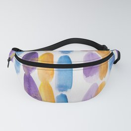 57 | 190330 Watercolour Abstract Brush Strokes Fanny Pack