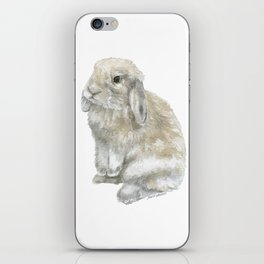 Lop Rabbit Watercolor Painting Bunny iPhone Skin