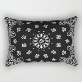 Bandana Black - Traditional Rectangular Pillow
