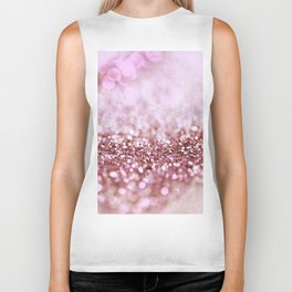 Pink Sparkle shiny glitter effect print - Sparkle Valentine Backdrop Biker Tank