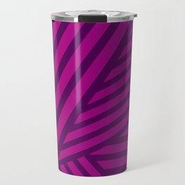 Pink and Purple Lines Geometric Abstract Design Travel Mug