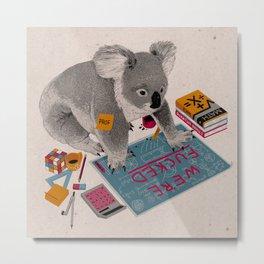 Prof Koala Metal Print