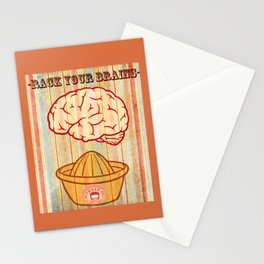 Rack your brains Stationery Cards