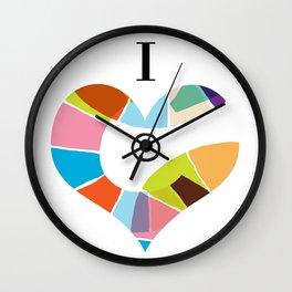 I Heart Coloria Too Wall Clock