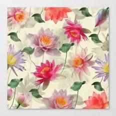 Lotus Flower Pattern Canvas Print