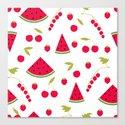 Pattern watermelon cherry raspberry currant by fuzzyfox85