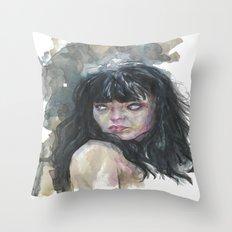 Bad girl Throw Pillow