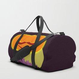 Evil Pumpkin Over The City Duffle Bag