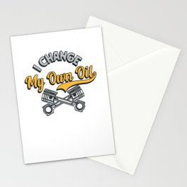 I Change My Own Oil Stationery Cards