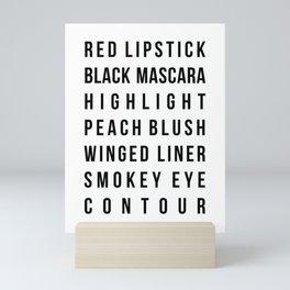 Makeup Words Mini Art Print