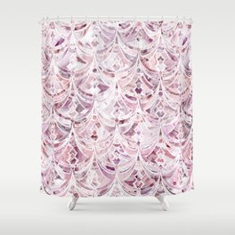 Berry Frosting Art Deco Pattern  Shower Curtain