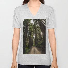 Redwoods Make Me Smile - Nature Photography Unisex V-Neck