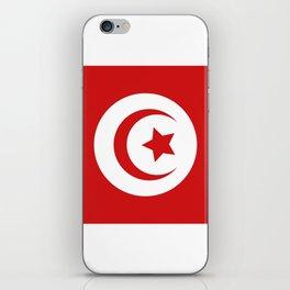 Tunisia flag iPhone Skin