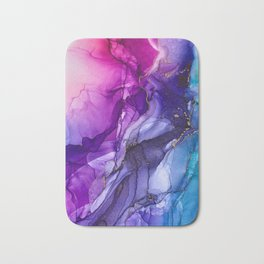 Abstract Vibrant Rainbow Ombre Bath Mat
