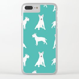 Bull Terrier white coat dog breed pet friendly dog gifts dog lover bull terriers Clear iPhone Case